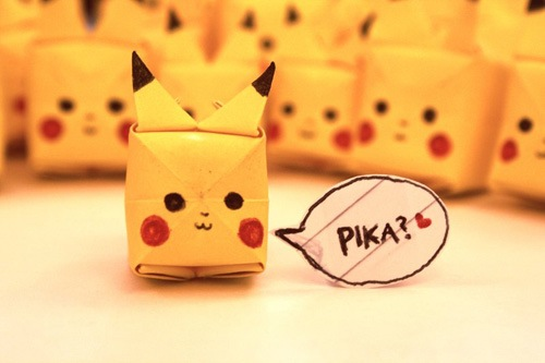 instructions on how to make a origami pikachu