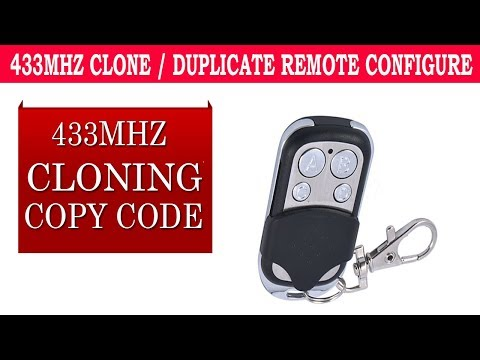 433mhz cloning remote instructions