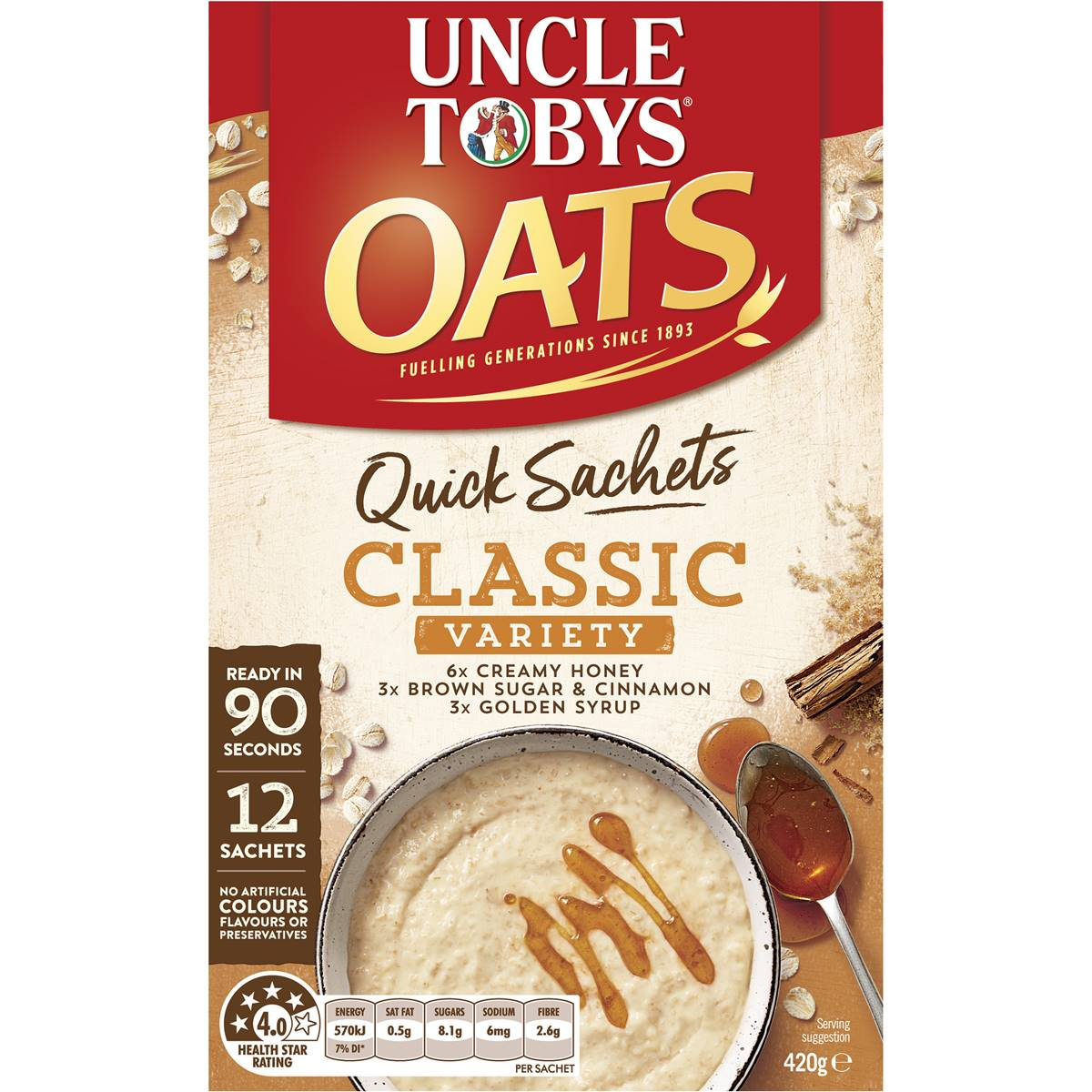 uncle tobys oats cooking instructions