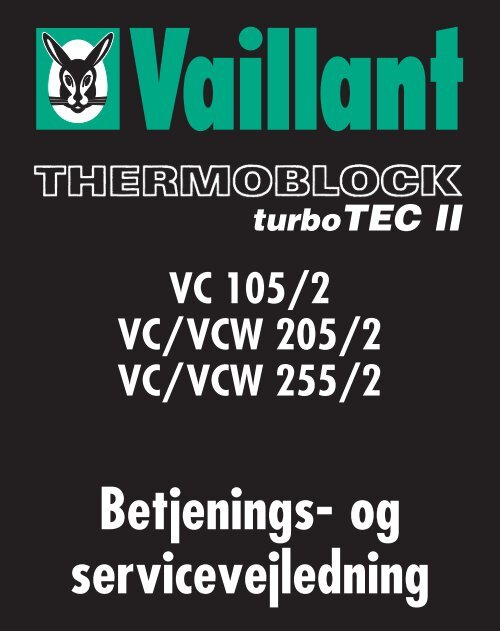vaillant turbotec plus manual english