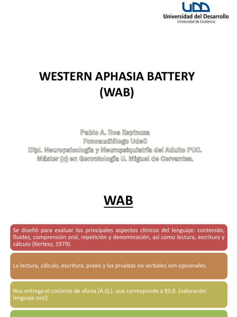 Western aphasia battery manual pdf